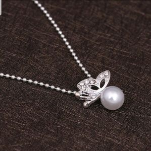 luckyday99 Jewelry - SALES!! Butterfly Necklace and Earrings Set